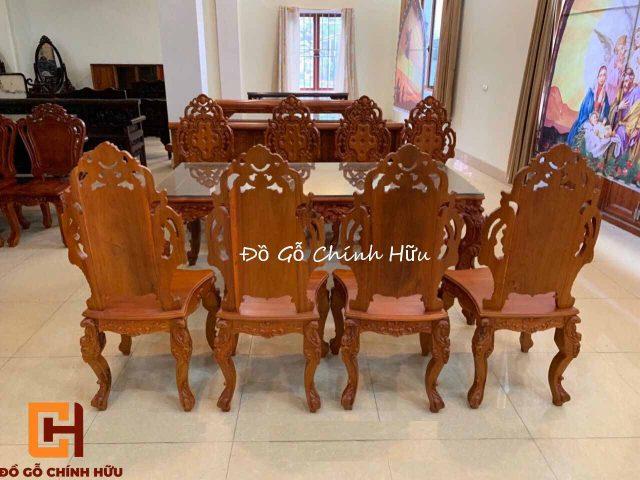 Bàn ghế ăn tân cổ điển – mã 1817