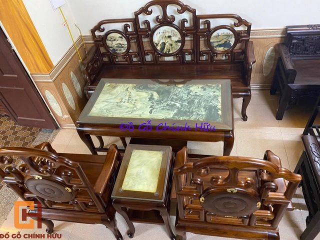 Bàn ghế móc mỏ gụ Quảng Bình – mã 1361