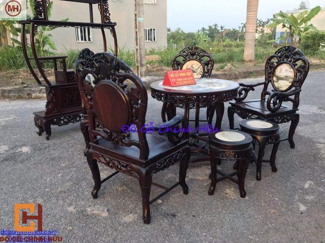 Bộ bàn ghế trúc đơn – mã 1613