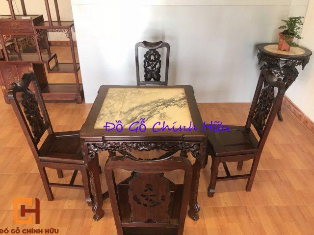 Bộ bàn ăn gỗ gụ – mã 1324