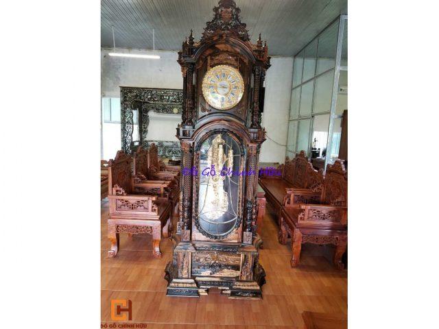 Đồng hồ cây gỗ mun – mã 1606