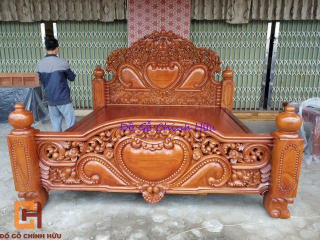 Giường ngủ gỗ gõ đỏ – mã 1582