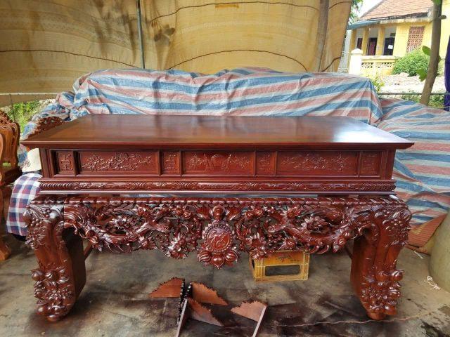 Sập thờ mai điểu gỗ gụ – mã 1541