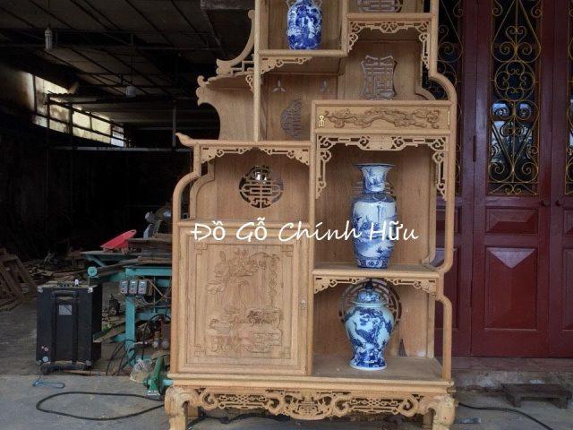 Tủ bày đồ gỗ gụ – mã 1823