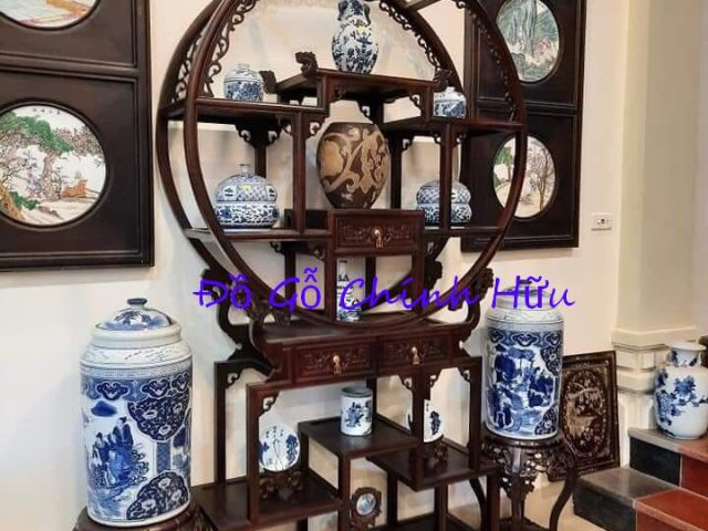Tủ bày đồ gỗ gụ – mã 1423
