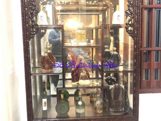 Tủ bày đồ trúc gỗ gụ – mã 1427