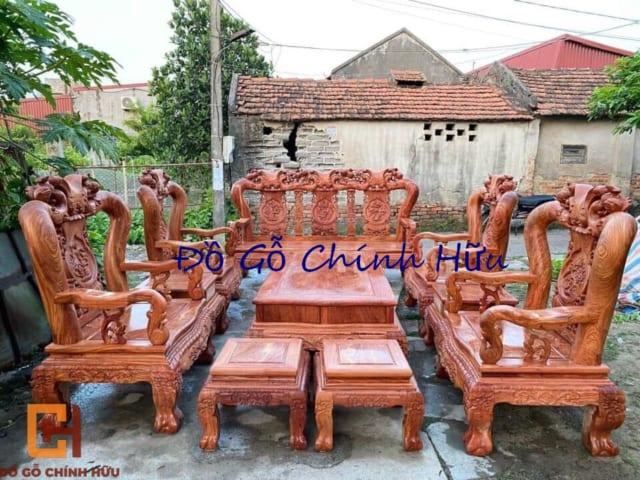 Bộ bàn ghế minh quốc đào 10 món
